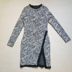 Twenty brand black/white bodycon dress size S